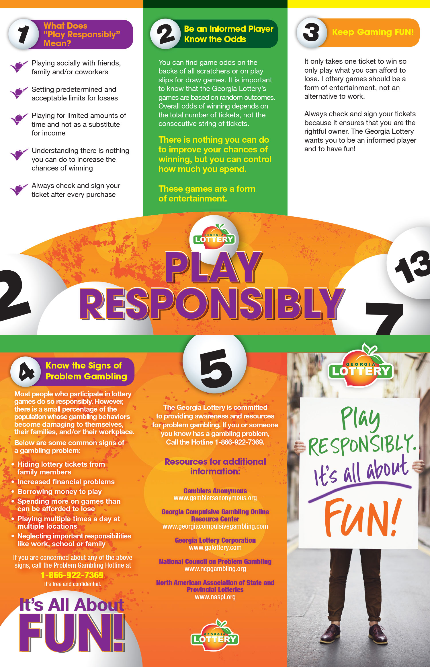 Georgia Lottery Corporation Play Responsibly Brochure